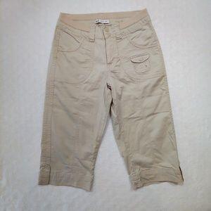 Lee Easy Fit Tan Capri Pants